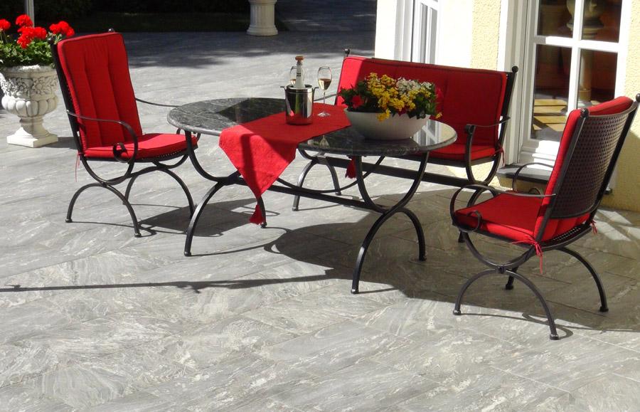 terrassenplatten granit impr gnieren. Black Bedroom Furniture Sets. Home Design Ideas